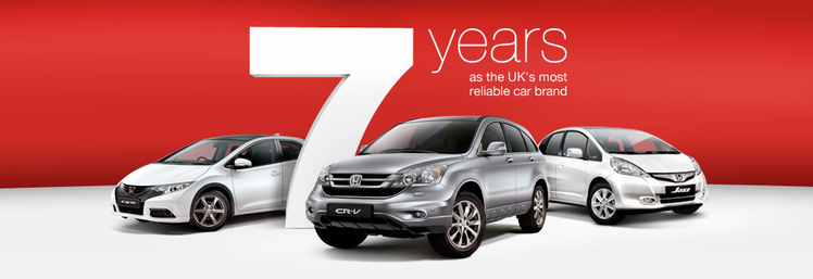 7 Years as the UK's most reliable car brand