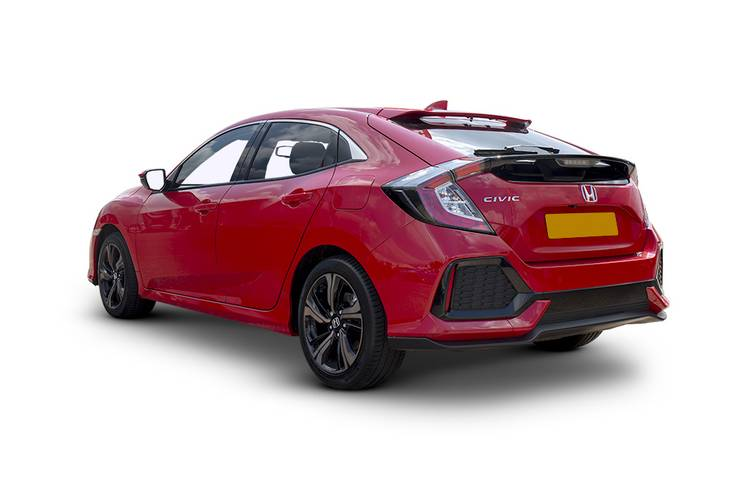Honda Civic Hatchback 5dr Rear Three Quarter