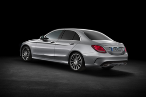 Rear side angle shot of C-Class Saloon Thumbnail