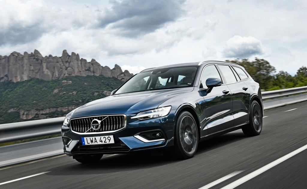 Front exterior shot of the Volvo V60