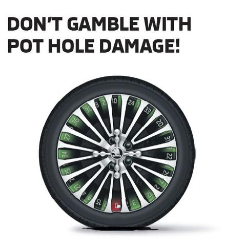 Pot Hole Wheel