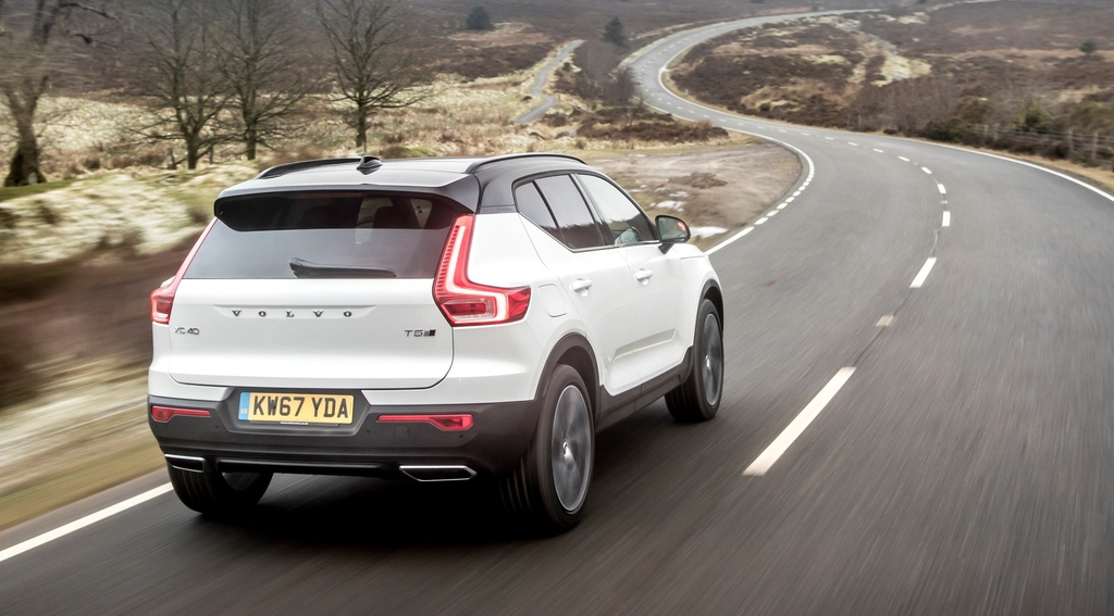 Rear exterior of the Volvo XC40