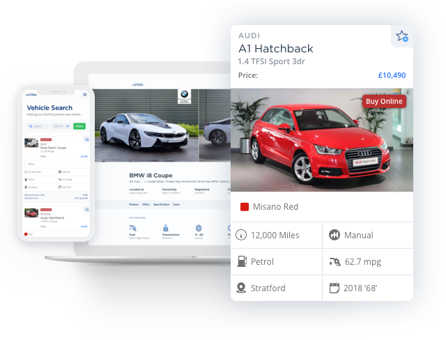 Buy a car or van online with confidence on Listers.co.uk