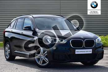 BMW X1 Diesel xDrive 25d M Sport 5dr Step Auto in Black Sapphire metallic paint at Listers Boston (BMW)
