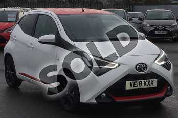 Toyota AYGO 1.0 VVT-i X-Press 5dr in White Flash at Listers Toyota Cheltenham