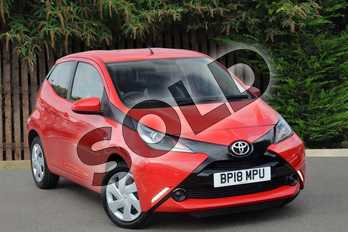 Toyota AYGO 1.0 VVT-i X-Play 5dr x-shift in Red Pop at Listers Toyota Coventry