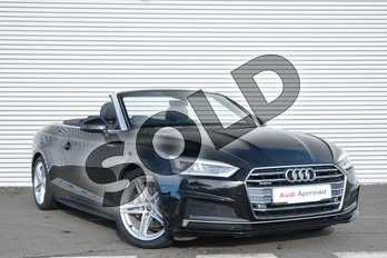 Audi A5 Diesel 2.0 TDI Quattro S Line 2dr S Tronic in Myth Black Metallic at Coventry Audi