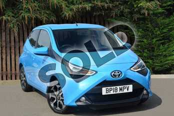 Toyota AYGO 1.0 VVT-i X-Plore 5dr in Cyan Splash at Listers Toyota Coventry
