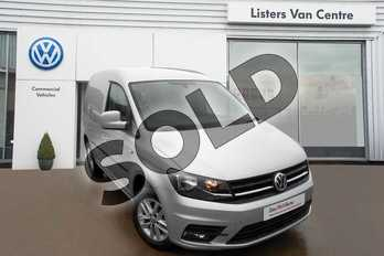 Volkswagen Caddy C20 Diesel 2.0 TDI BlueMotion Tech 102PS Highline Van in Reflex Silver Metallic at Listers Volkswagen Van Centre Coventry