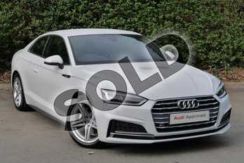 Audi A5 Diesel 2.0 TDI S Line 2dr S Tronic in Glacier White Metallic at Worcester Audi