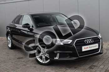 Audi A3 1.5 TFSI Sport 4dr in Myth Black Metallic at Stratford Audi