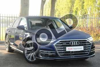Audi A8 Diesel 50 TDI Quattro 4dr Tiptronic in Navarra Blue Metallic at Coventry Audi