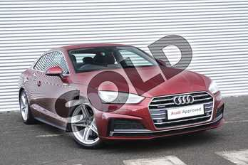 Audi A5 Diesel 2.0 TDI Quattro S Line 2dr S Tronic in Matador Red Metallic at Coventry Audi