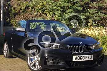 BMW 2 Series Convertible M240i 2dr (Nav) Step Auto in Black Sapphire metallic paint at Listers King's Lynn (BMW)