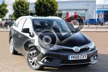 Toyota Auris Touring Sport 1.8 Hybrid Icon Tech TSS 5dr CVT in Eclipse Black at Listers Toyota Cheltenham