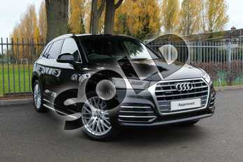 Audi Q5 Diesel 2.0 TDI Quattro S Line 5dr S Tronic in Myth Black Metallic at Coventry Audi