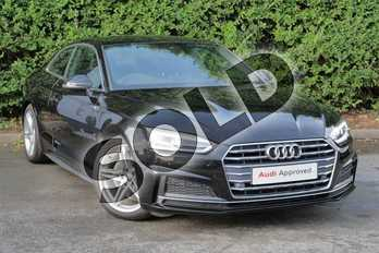 Audi A5 Diesel 2.0 TDI S Line 2dr S Tronic in Myth Black Metallic at Worcester Audi