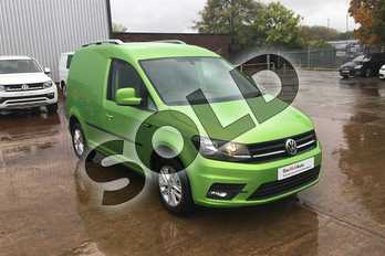 Volkswagen Caddy C20 Diesel 2.0 TDI BlueMotion Tech 102PS Highline Van in Viper Green Metallic at Listers Volkswagen Van Centre Worcestershire