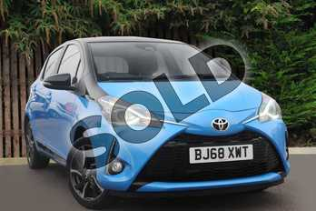 Toyota Yaris 1.5 VVT-i Design 5dr in Cyan Splash at Listers Toyota Coventry