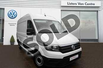 Volkswagen Crafter CR35 Maxi LWB Diesel 2.0 TDI 140PS Trendline High Roof Van in Candy White  at Listers Volkswagen Van Centre Coventry