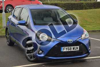 Toyota Yaris 1.5 Hybrid Design 5dr CVT in Blue at Listers Toyota Lincoln