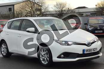 Toyota Auris 1.8 Hybrid Icon Tech TSS 5dr CVT in Pure White at Listers Toyota Cheltenham