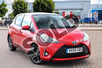 Toyota Yaris 1.5 VVT-i Design 5dr in Red Pop at Listers Toyota Cheltenham