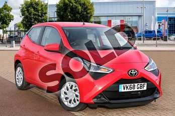 Toyota AYGO 1.0 VVT-i X-Play 5dr x-shift in Red Pop at Listers Toyota Cheltenham