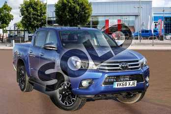 Toyota Hilux Diesel Invincible X D/Cab Pick Up 2.4 D-4D in Nebula Blue at Listers Toyota Cheltenham