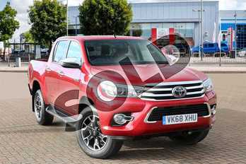Toyota Hilux Diesel Invincible X D/Cab Pick Up 2.4 D-4D Auto in Crimson Red at Listers Toyota Cheltenham