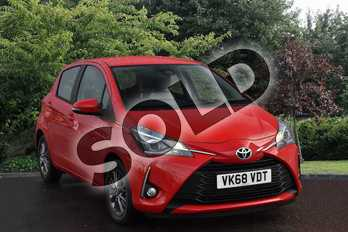 Toyota Yaris 1.5 VVT-i Icon 5dr in Red at Listers Toyota Stratford-upon-Avon