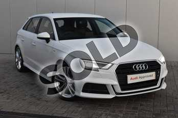 Audi A3 35 TFSI S Line 5dr in Glacier White Metallic at Stratford Audi
