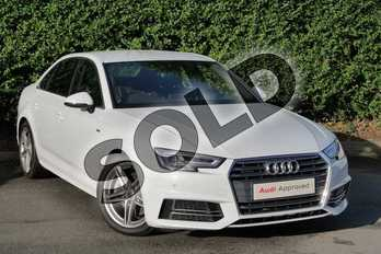 Audi A4 2.0T FSI 252 Quattro S Line 4dr S Tronic in Glacier White Metallic at Coventry Audi