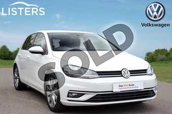 Volkswagen Golf 1.5 TSI EVO 150 GT 5dr DSG in Pure white at Listers Volkswagen Coventry