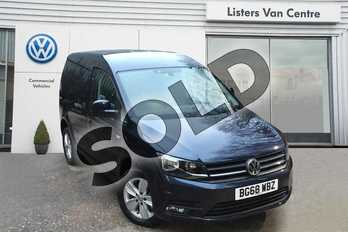 Volkswagen Caddy C20 Diesel 2.0 TDI BlueMotion Tech 150PS Highline Van in Starlight Blue Metallic at Listers Volkswagen Van Centre Coventry