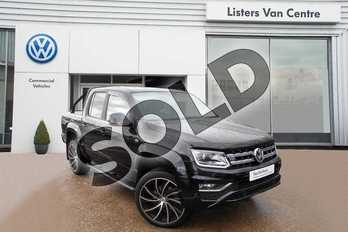 Volkswagen Amarok D/Cab Pick Up Highline 3.0 V6 TDI 258 BMT 4M Auto in Deep Black Pearlescent at Listers Volkswagen Van Centre Coventry