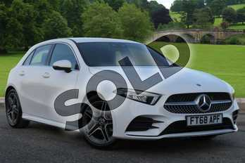 Mercedes-Benz A Class Diesel A180d AMG Line Executive 5dr Auto in polar white at Mercedes-Benz of Boston