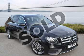 Mercedes-Benz E Class E 200 AMG Line Premium 5dr 9G-Tronic in obsidian black metallic at Mercedes-Benz of Hull