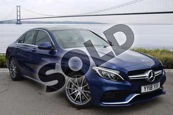 Mercedes-Benz C Class AMG C63 Premium 4dr Auto in brilliant blue metallic at Mercedes-Benz of Hull