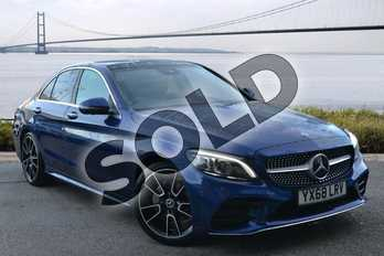 Mercedes-Benz C Class Diesel C200d AMG Line Premium Plus 4dr Auto in brilliant blue metallic at Mercedes-Benz of Hull