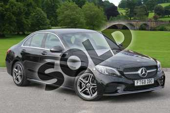 Mercedes-Benz C Class C200 AMG Line Premium 4dr 9G-Tronic in obsidian black metallic at Mercedes-Benz of Grimsby