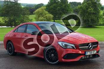 Mercedes-Benz CLA Class CLA 220 AMG Line Night Ed Plus 4Matic 4dr Tip Auto in jupiter red at Mercedes-Benz of Grimsby