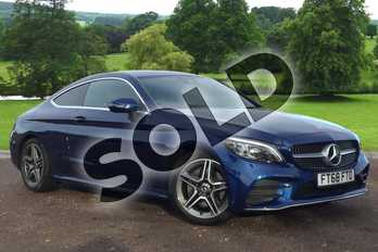 Mercedes-Benz C Class C200 AMG Line Premium 2dr 9G-Tronic in brilliant blue metallic at Mercedes-Benz of Grimsby