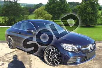 Mercedes-Benz C Class C200 AMG Line Premium 2dr 9G-Tronic in cavansite blue metallic at Mercedes-Benz of Grimsby