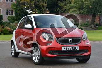 Smart Forfour Hatchback 1.0 Passion 5dr in cadmium red metallic at smart at Mercedes-Benz of Lincoln