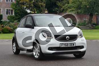 Smart Forfour Hatchback 0.9 Turbo Passion 5dr in white at smart at Mercedes-Benz of Lincoln