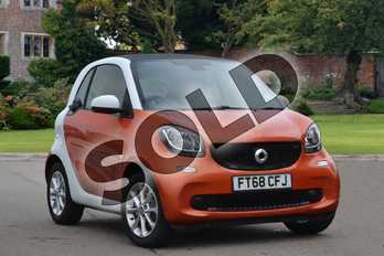 Smart Fortwo Coupe 1.0 Passion 2dr in lava orange metallic at smart at Mercedes-Benz of Lincoln