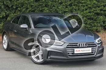 Audi A5 Diesel 2.0 TDI Ultra S Line 2dr S Tronic in Daytona Grey Pearlescent at Worcester Audi