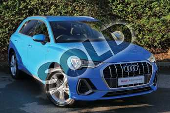 Audi Q3 35 TFSI S Line 5dr S Tronic in Turbo Blue at Worcester Audi