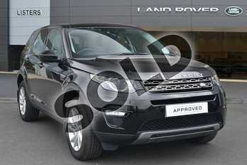 Land Rover Discovery Sport Diesel SW 2.0 TD4 180 SE Tech 5dr Auto in Santorini Black at Listers Land Rover Hereford
